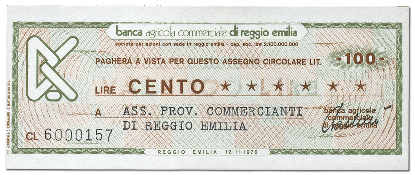 miniassegni-banca-agricola-commerciale-reggio-emilia-100-lire-fronte