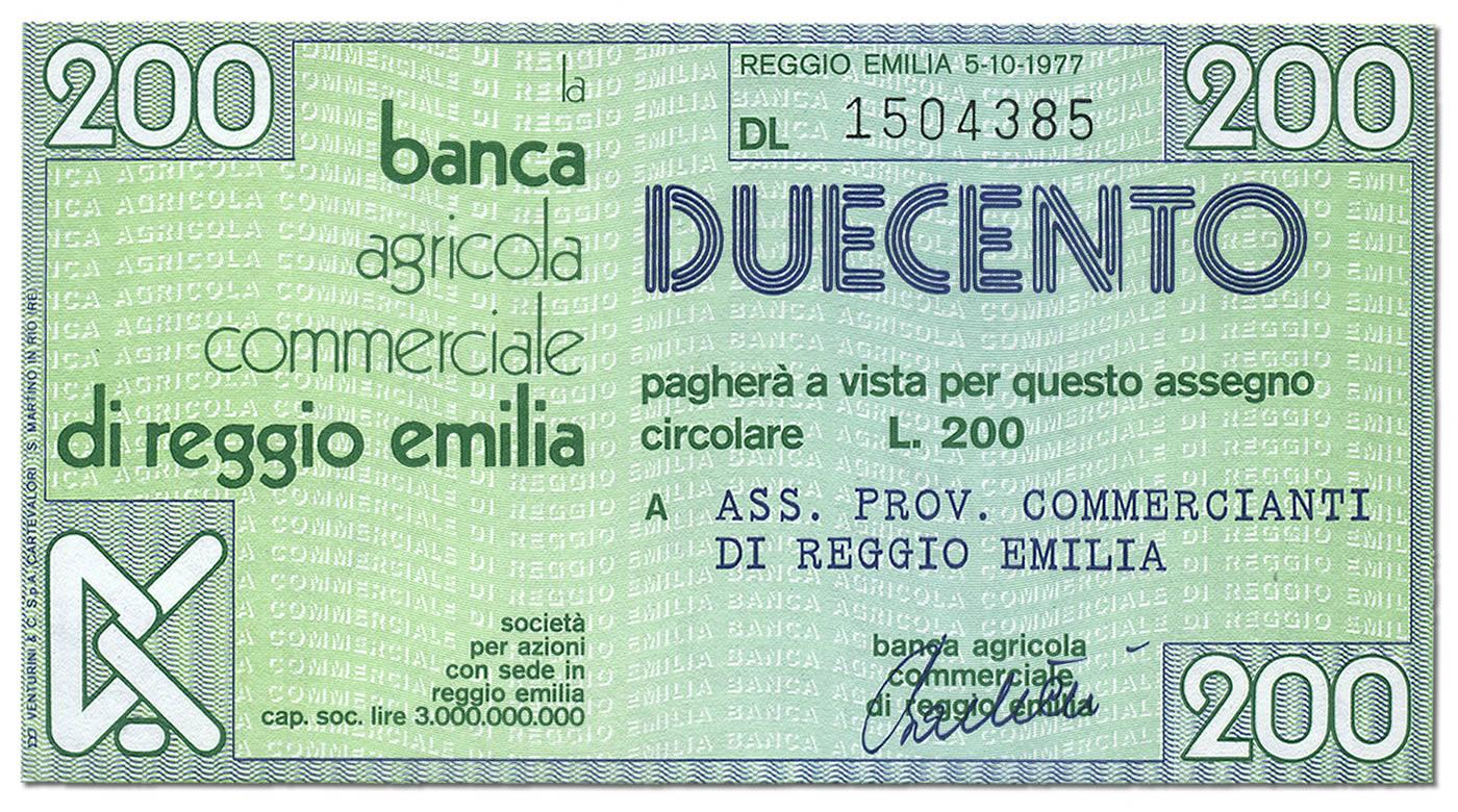 miniassegni-banca-agricola-commerciale-reggio-emilia-200-lire-fronte
