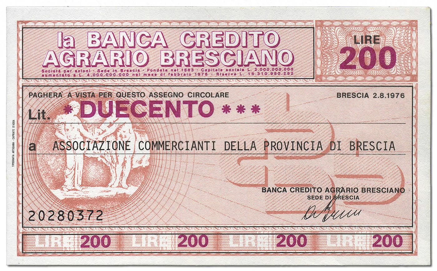 Credito Agrario Bresciano Lire 200