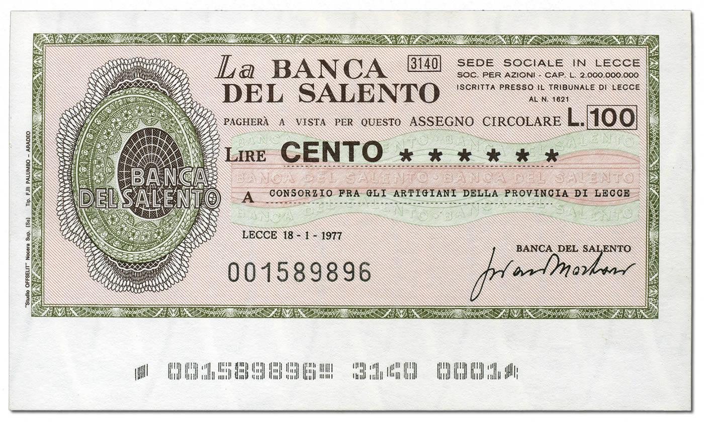 miniassegni-banca-del-salento-100-lire-fronte