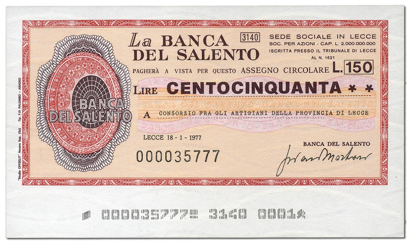 miniassegni-banca-del-salento-150-lire-fronte