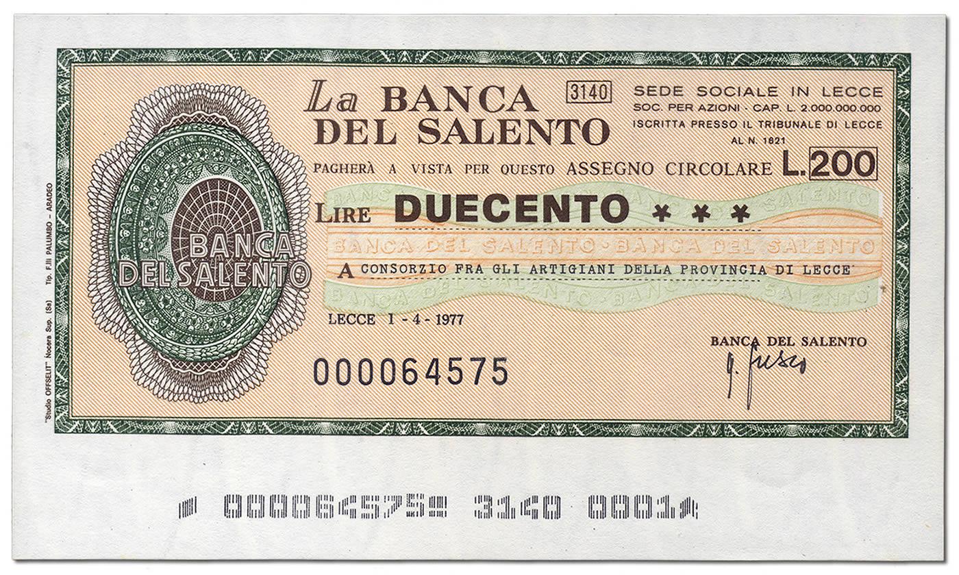 miniassegni-banca-del-salento-200-lire-fronte